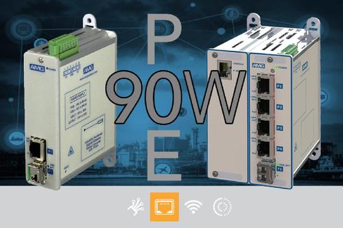 AMG Media converters & Ethernet switches now with 90W PoE+